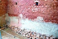 Fördärvar av väggarna av Troy (Truva) Truva arkivfoton