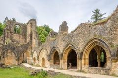Fördärvar av Villers den devant Orval kloster i Belgien Royaltyfri Bild