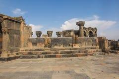 Fördärvar av Zvartnots den himmelska ängeltemplet Armenien, central som Royaltyfri Fotografi