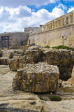Fördärvar & bastioner, Valletta Malta royaltyfri bild