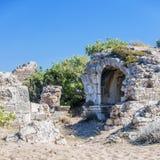 Fördärvar den östliga nekropolen för sidan arkivfoton