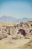 Fördärvar den östliga nekropolen för sidan arkivbild