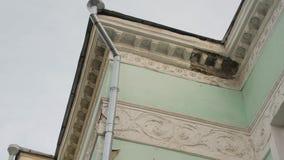 Fördärvar den byggande fasaden lager videofilmer