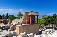 Fördärvar den Knossos slotten, Kreta, Grekland Arkivbilder