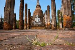 fördärvar för sukhothaitempelet för sa si thailand wat Arkivbilder