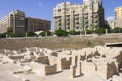 Fördärvar förbundet med Alexandria den roman teatern royaltyfria bilder