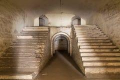 Fördärvar fortet Tarakanovskiy Dubno ukraine Arkivbild