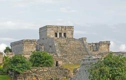 Fördärvar från forntida mayan civilisation i Mexico Arkivbild