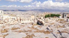 Fördärvar framme av Atenlandskap Royaltyfri Bild