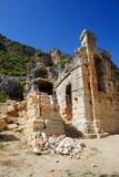 Fördärvar i amfiteater på Myra Arkivbild