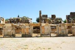 Fördärvar i amfiteater på Myra Royaltyfri Bild