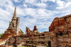 Fördärvar i Ayutthaya, Thailand Arkivbilder