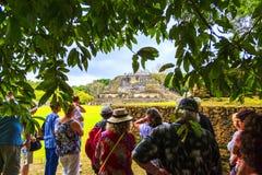 Fördärvar i Belize arkivbilder