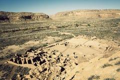 Fördärvar i Chaco kultur Arkivfoton