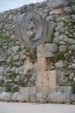 Fördärvar i den forntida Mayan platsen Uxmal, Mexico Fotografering för Bildbyråer