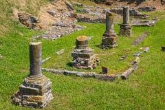 Fördärvar i den forntida staden av Aquileia Arkivfoto