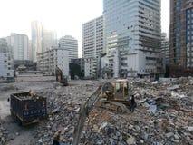 Fördärvar i den shenzhen staden för gamla byggnader som förstörs Royaltyfria Foton