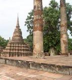 Fördärvar i det historiskt parkerar i sukhothai Royaltyfria Foton