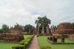 Fördärvar i det historiskt parkerar i sukhothai Fotografering för Bildbyråer
