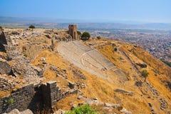 Fördärvar i forntida stad av Pergamon Turkiet Royaltyfri Bild