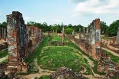 Fördärvar i gammal tempel Fotografering för Bildbyråer