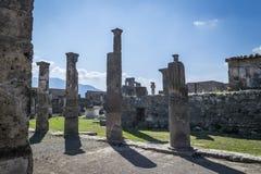 Fördärvar i Pompei, Italien Royaltyfri Bild