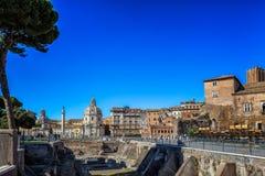 Fördärvar i Rome Arkivfoton
