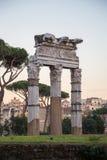 Fördärvar i Rome Arkivfoto