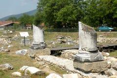 Fördärvar i Ulpia Traiana Augusta Dacica Sarmizegetusa 5 Royaltyfri Bild