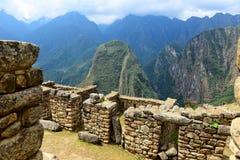 Fördärvar Machu Picchu Fotografering för Bildbyråer