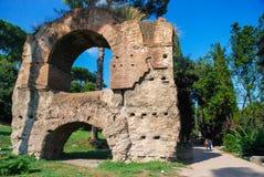 Fördärvar på Circulus Maximus i Rome, Italien Fotografering för Bildbyråer