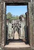 Fördärvar på den Bayon templet Royaltyfri Fotografi