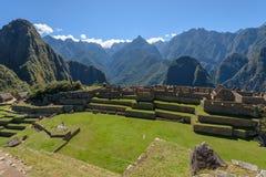 Fördärvar på Machu Picchu, Peru arkivfoton