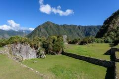 Fördärvar på Machu Picchu, Peru arkivbild