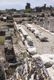 Fördärvar på Pamukkale, Turkiet Arkivfoto