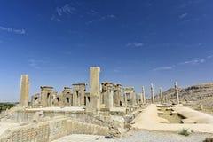 Fördärvar på Persepolis den historiska staden, Shiraz, Iran September 12, 2016 Royaltyfri Foto