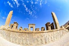 Fördärvar på Persepolis den historiska staden, Shiraz, Iran September 12, 2016 Arkivbilder