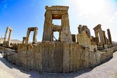 Fördärvar på Persepolis den historiska staden, Shiraz, Iran September 12, 2016 Arkivbild