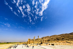 Fördärvar på Persepolis den historiska staden, Shiraz, Iran September 12, 2016 Fotografering för Bildbyråer