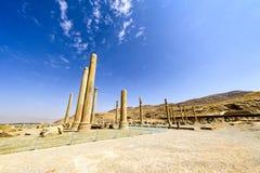 Fördärvar på Persepolis den historiska staden, Shiraz, Iran September 12, 2016 Arkivfoton