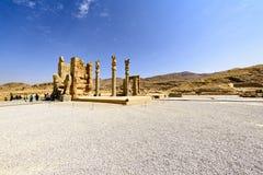 Fördärvar på Persepolis den historiska staden, Shiraz, Iran September 12, 2016 Royaltyfri Bild