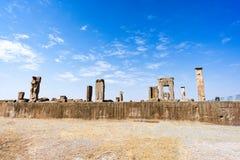 Fördärvar på Persepolis den historiska staden, Shiraz, Iran September 12, 2016 Arkivfoto
