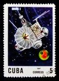 Fördärvar 1, 10th Ann Av lanseringen av den första serien för konstgjord satellit circa 1967 Arkivfoton