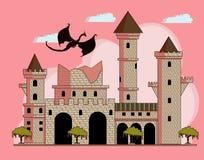 fördärvat slott stock illustrationer