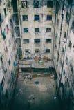 Fördömd byggande borggård Inga personer Arkivfoto