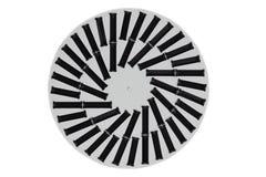 förd lampa Bästa sikt av den runda svartvita LEDDE lampan Begreppsen royaltyfria foton