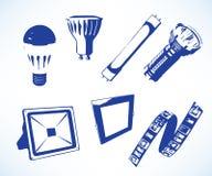förda lampor vektor illustrationer