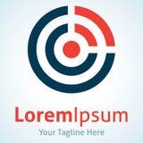 Fördela din symbol för logoen för modellen för påverkanvågsvängning Royaltyfria Bilder