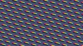 Fördelade Symmetrically sneda kulöra kapslar på ljust - blå bakgrund vektor illustrationer