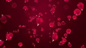 Fördelande 3D rosa kronblad - rörelsebakgrund royaltyfri illustrationer